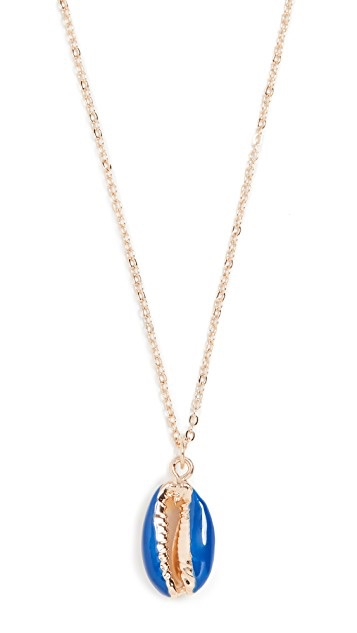 Shashi Deep Blue Sea Necklace $55.00