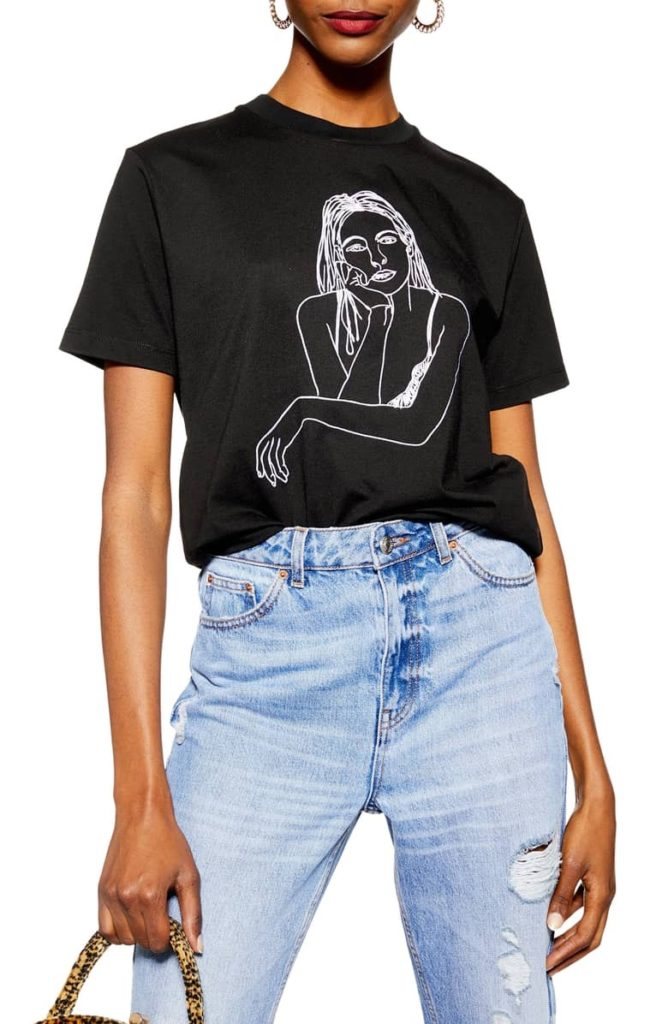 by Tee and Cake Sketch Girl Tee TOPSHOP $38.00