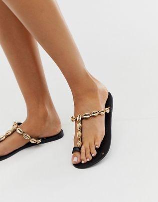 Fawn premium shell toe loop sandals $48.00