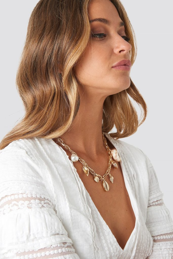 Multi Sea Pendant Necklace Gold $17.95