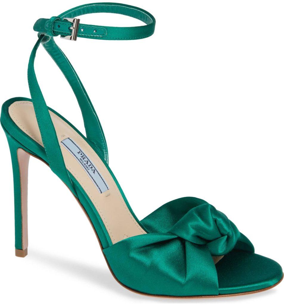 Knotted Silk Sandal PRADA $850.00