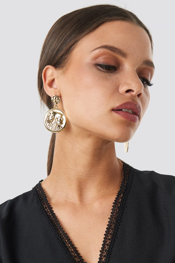 Big Coin Earrings Gold $14.95