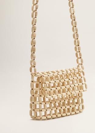 Beaded wood bag $39.99
