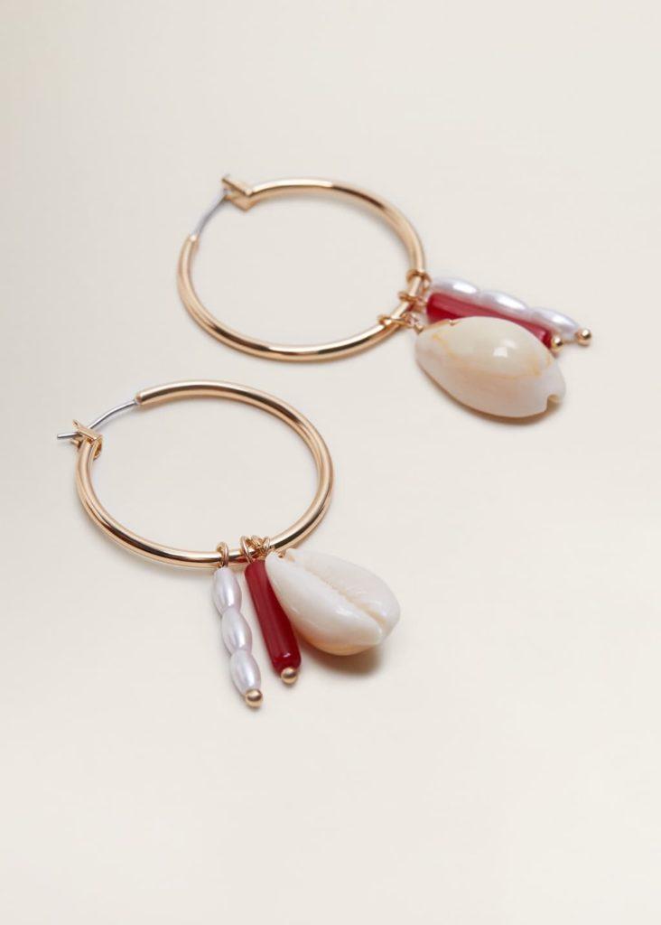Shell hoop earrings $25.99