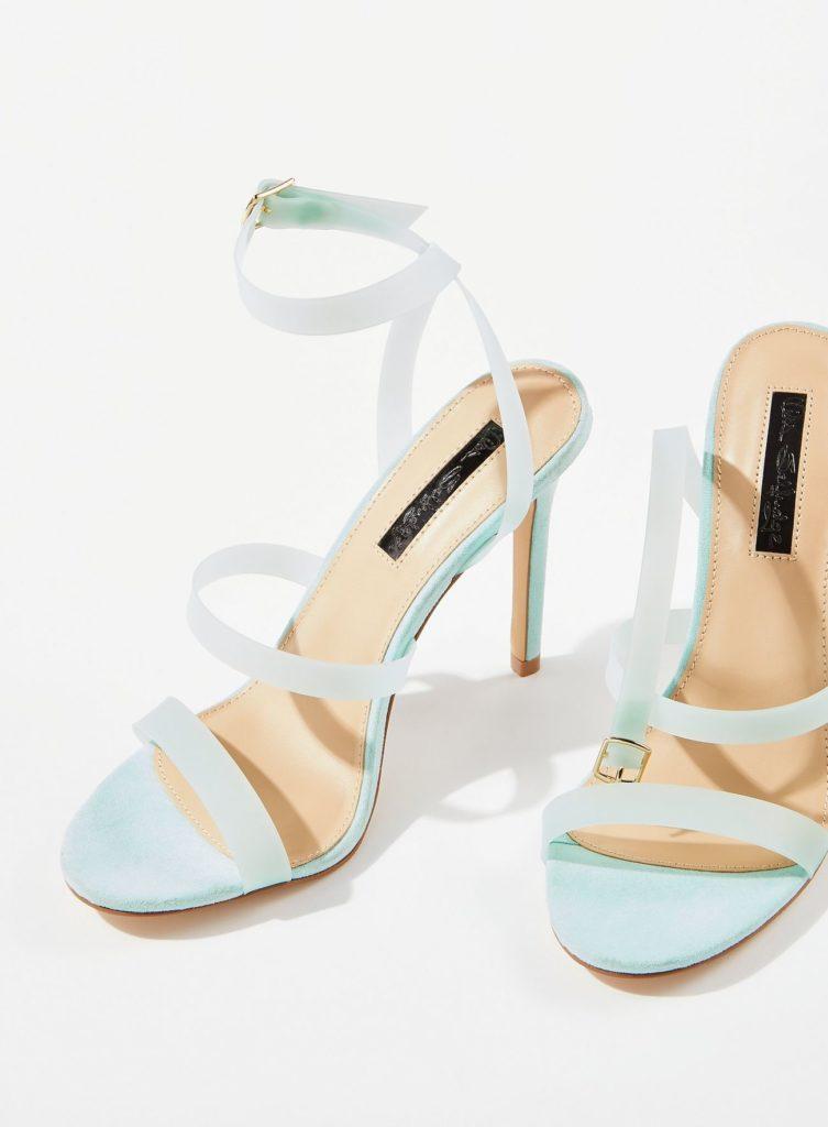 Green Samia Perspex Sandals $40.00