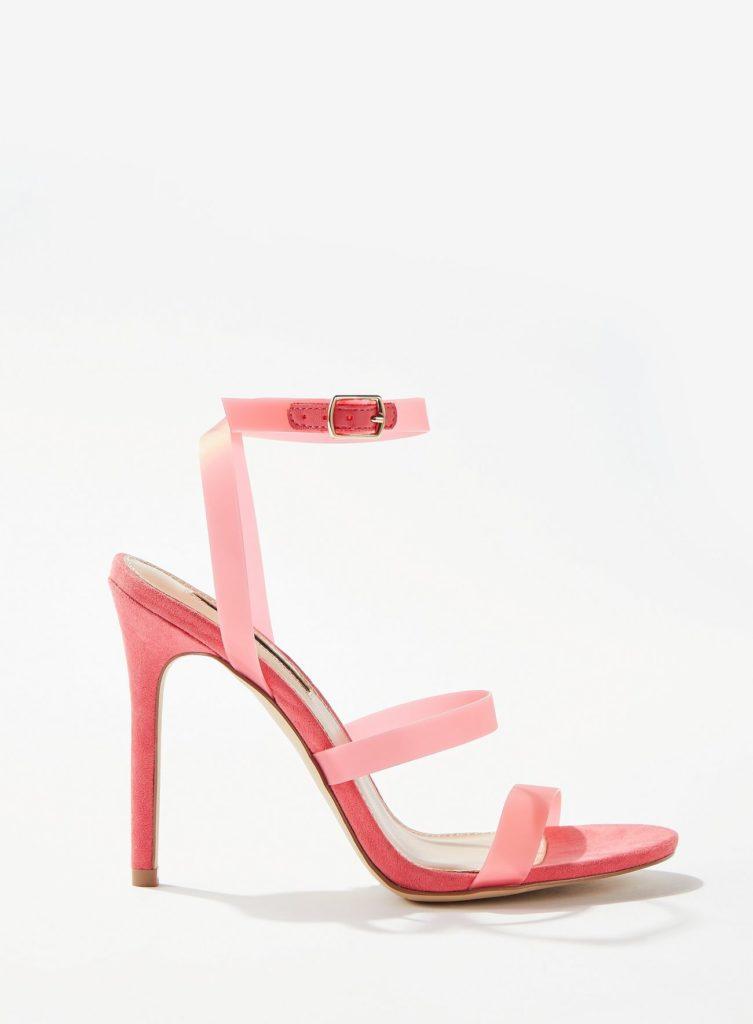 Samia Pink Perspex Sandals $68.00