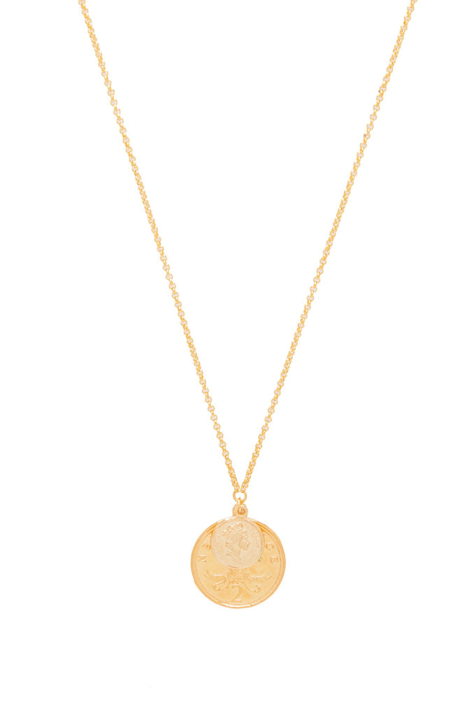 Double Coin Necklace SHASHI $40