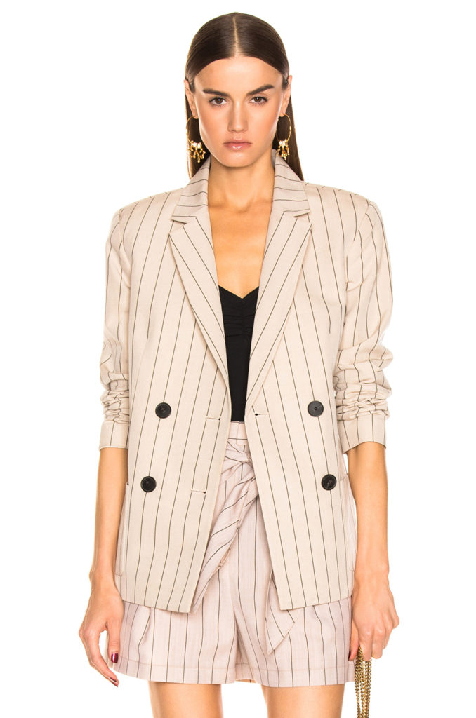 TIBI Stripe Suiting Blazer $895