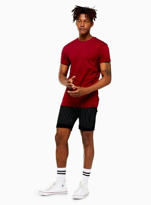 Black And White Stripe Shorts$65.00