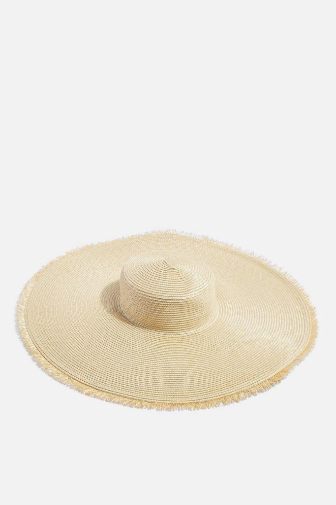 Frayed Oversized Straw Hat $50.00