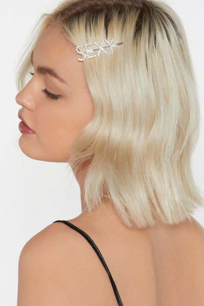 Hey Sexy Diamante Hair Slide $4.80