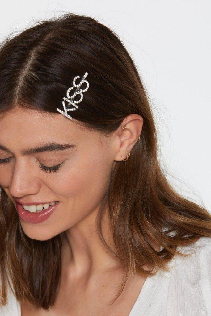 Kiss Me Diamante Hair Slide $4.80