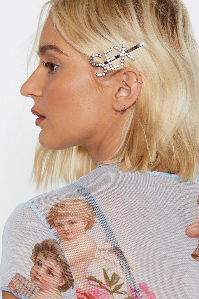 Sex Diamante Hair Clip $4.80