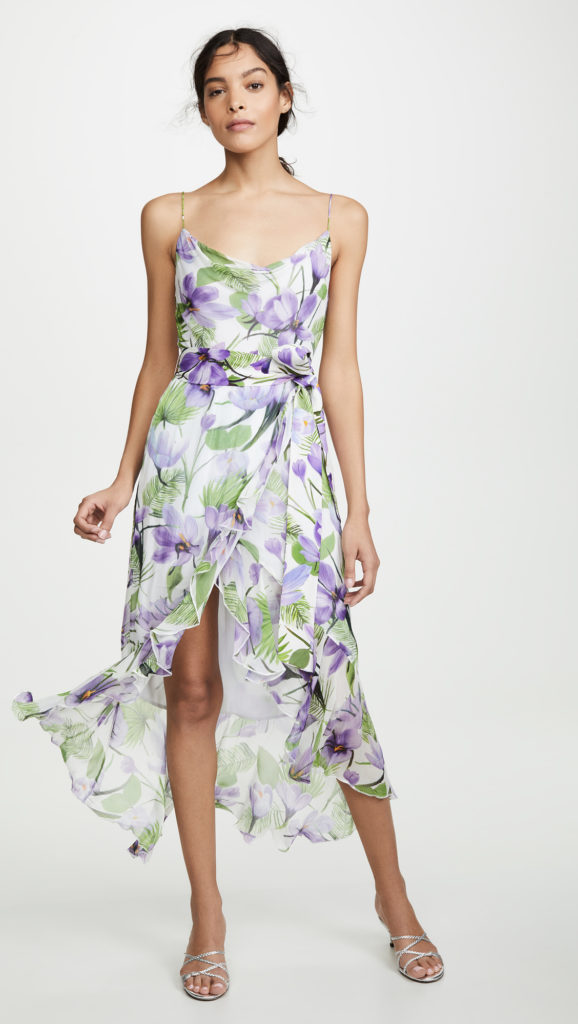 alice + olivia Tevi Cowl Neck Ruffle Dress $395.00