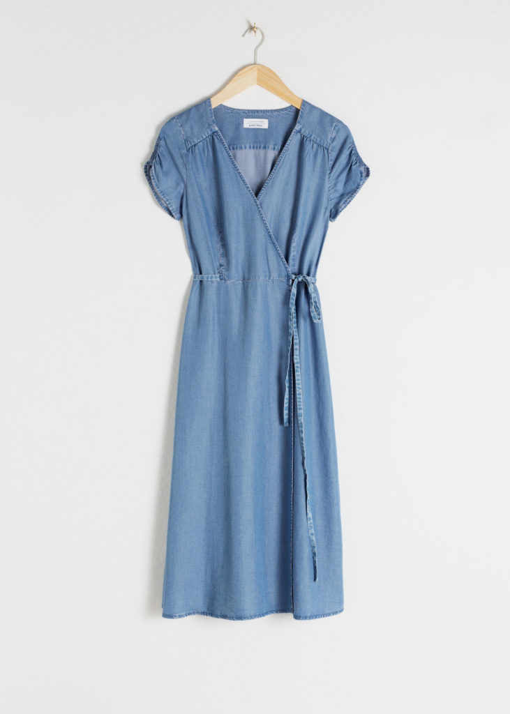 Lyocell Denim Wrap Dress $99