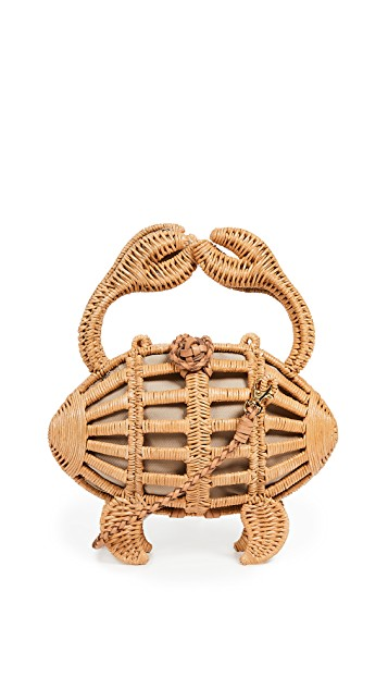 ARANAZ Crab Wicker Clutch $448.00
