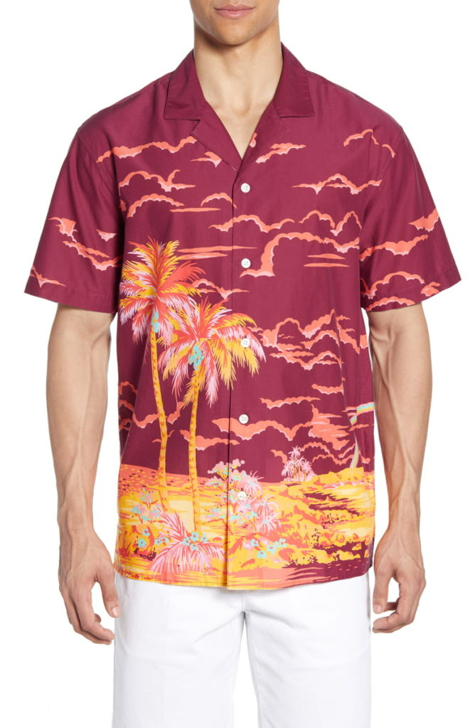 Cabana Slim Fit Island Print Button-Up Camp Shirt $98.00
