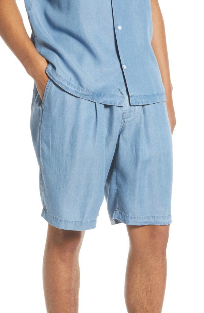 Keigo Chambray Shorts SATURDAYS NYC $145.00