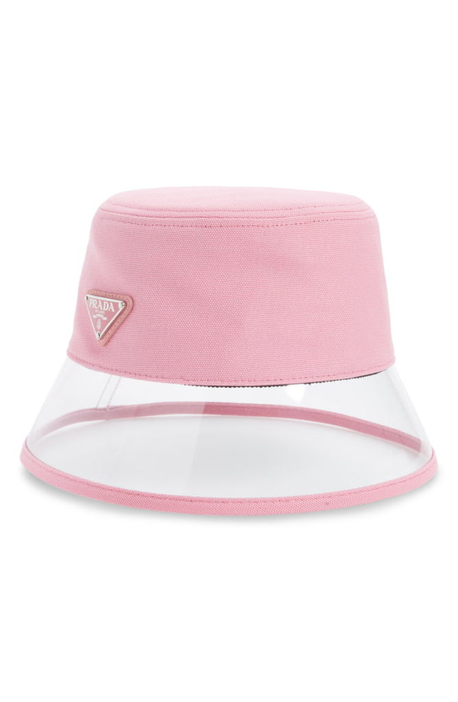 Clear Brim Bucket Hat PRADA $340.00