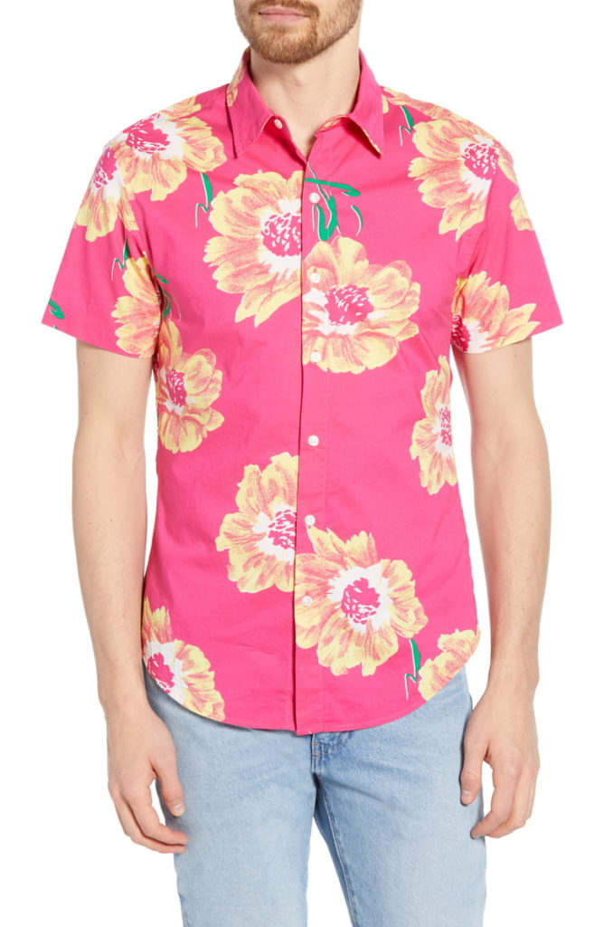 Riviera Slim Fit Floral Print Cotton Sport Shirt BONOBOS $88.00