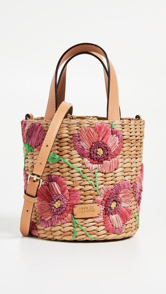 Frances Valentine Small Spring Flower Bucket Bag $295