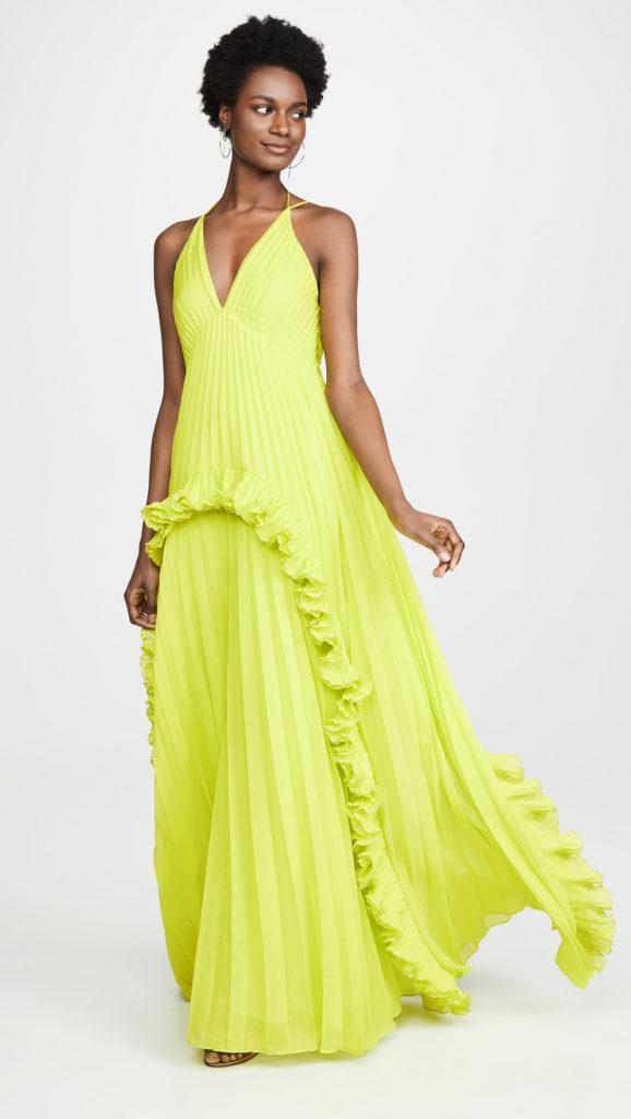 Halston Heritage Halter V Neck Gown $645.00