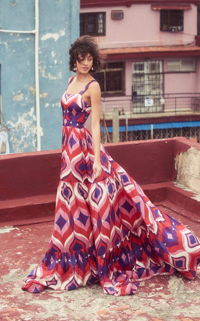 Alexis Jourdan Printed Crepe Maxi Dress $985.00