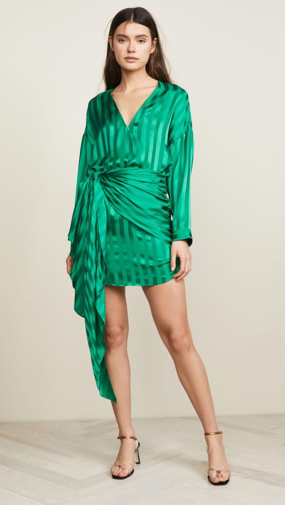 Michelle Mason  Long Sleeve Mini Wrap Dress $675.00