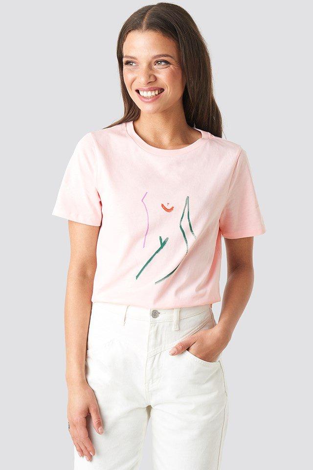 Art T-shirt Pink $23.95