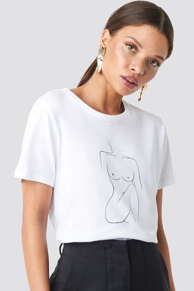 Female Body Tee White  $23.95