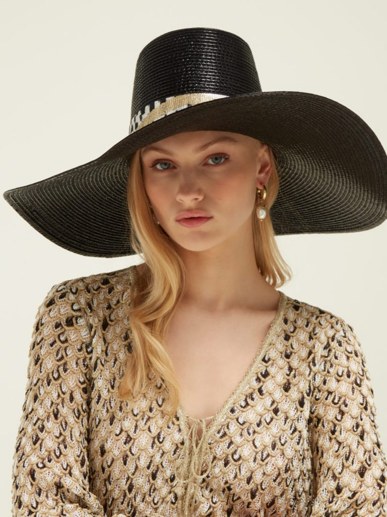 MISSONI MARE  Banded wide-brim hat $550