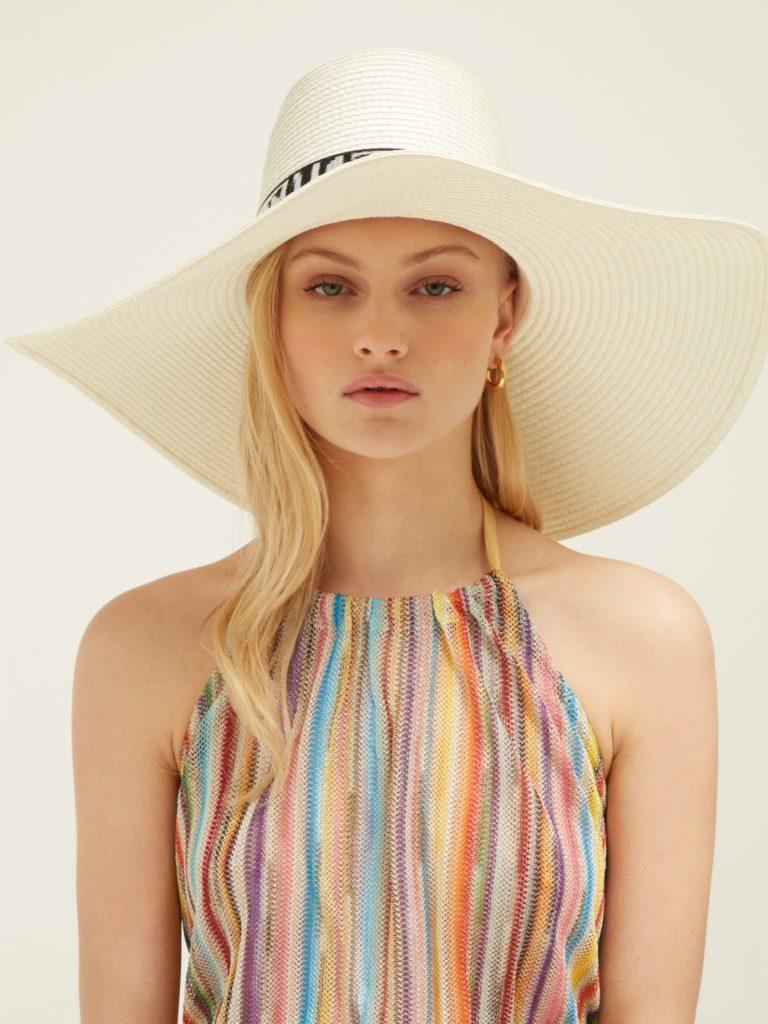 MISSONI MARE Jacquard-trim woven hat$550