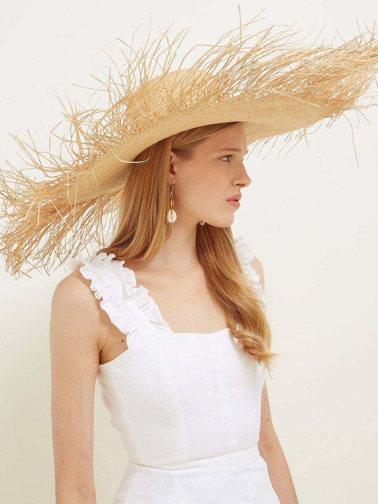 SENSI STUDIO Lady Ibiza oversized straw hat $233