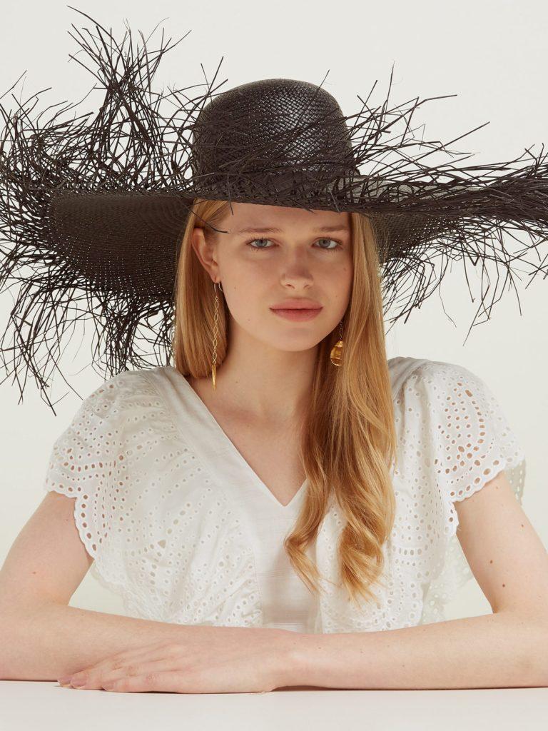 Lady Ibiza shell-embellished straw hat $233
