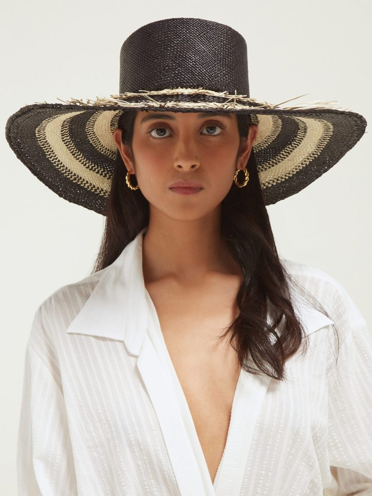 HOUSE OF LAFAYETTE Reed frayed-straw hat $366
