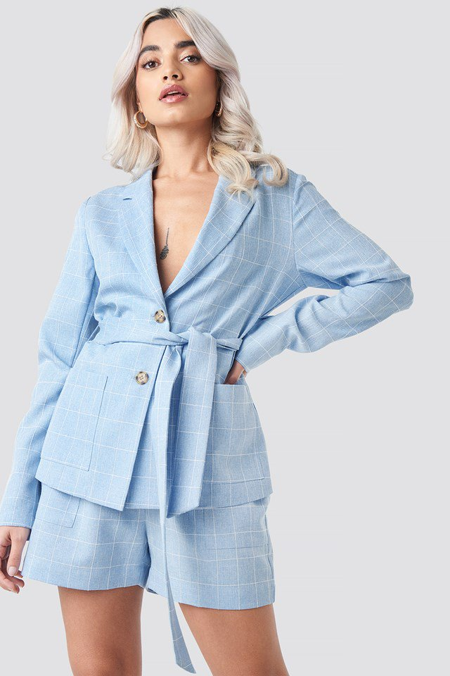 Check Blazer Blue $71.95