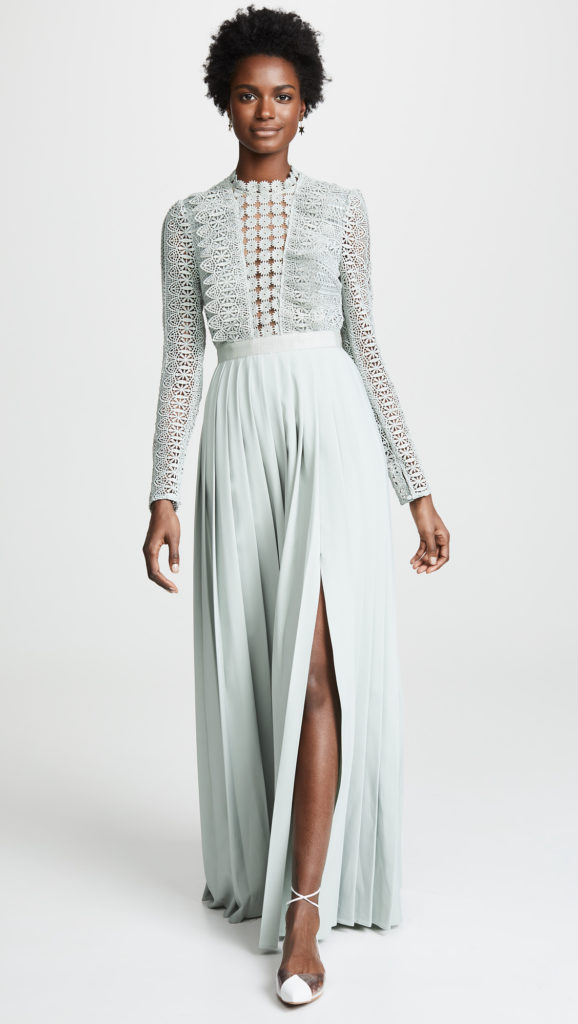 Self Portrait Spiral Lace Maxi Dress $485.00