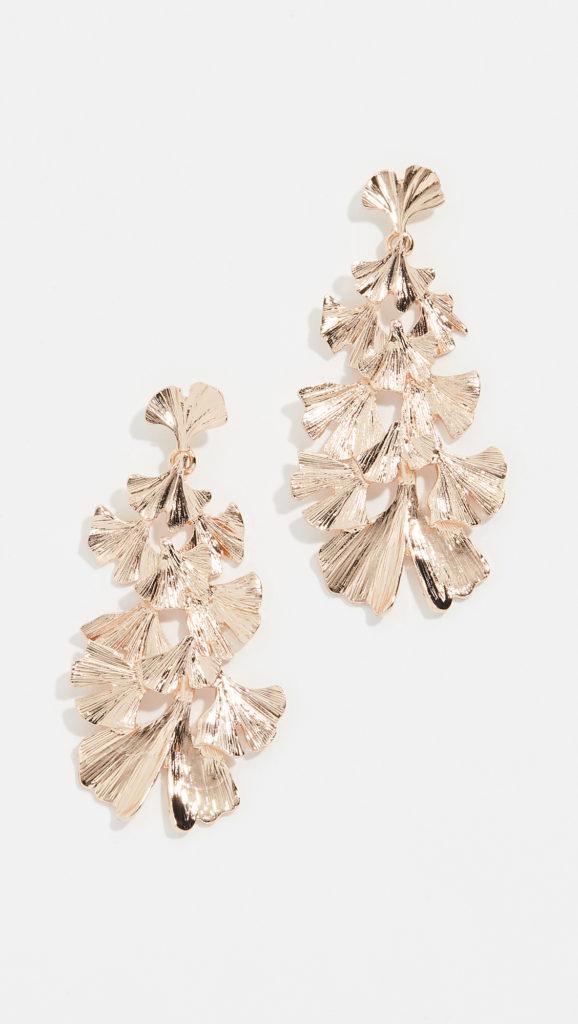 Stella + Ruby Leaf Dangle Earrings $60.00