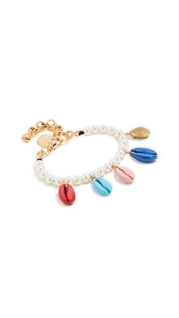 Venessa Arizaga Rainbow Shell Bracelet $95.00