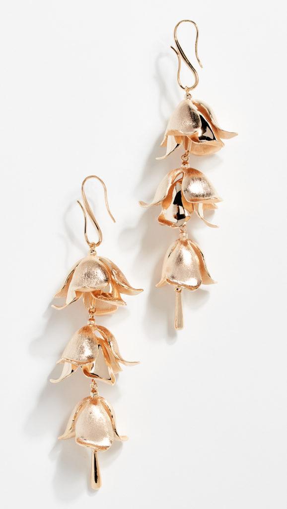 Zimmermann Orchid Bud Drop Earrings $295.00