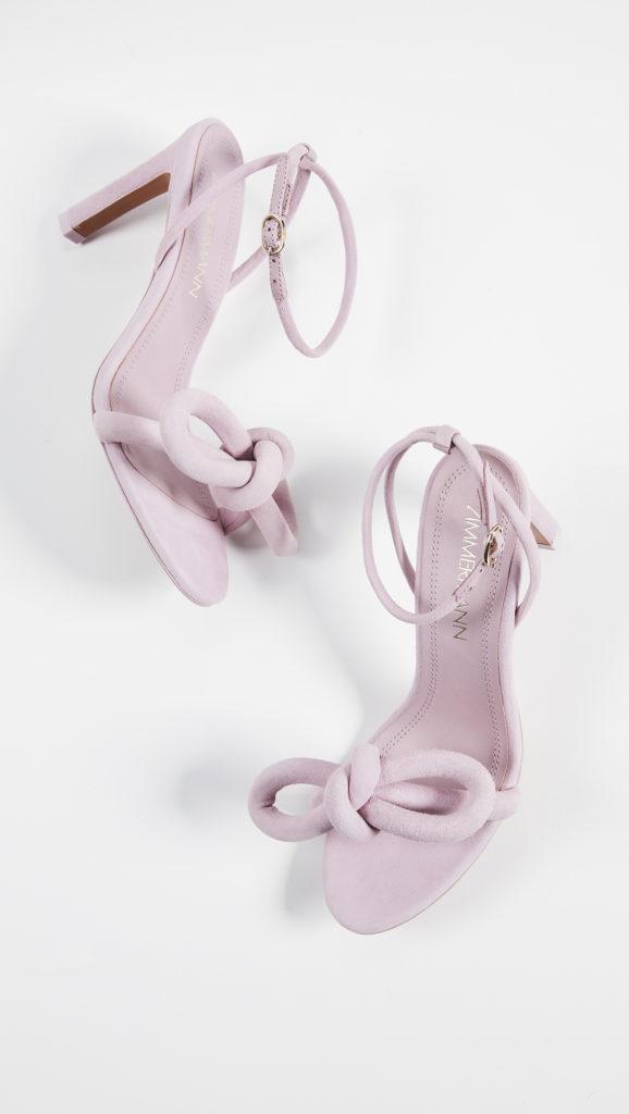 Zimmermann Sculptural Bow Heel Sandals $495.00
