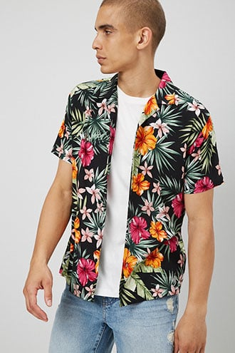 Classic Fit Floral Print Shirt $19.90