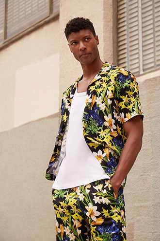 Tropical Floral Print Shirt $22.90