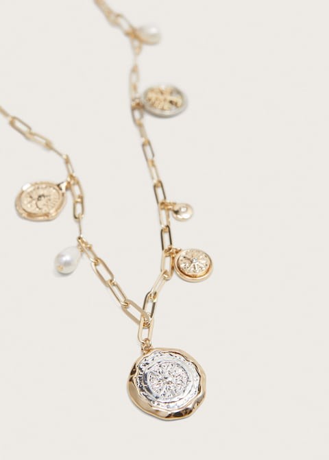 Coin pendant necklace $39.99