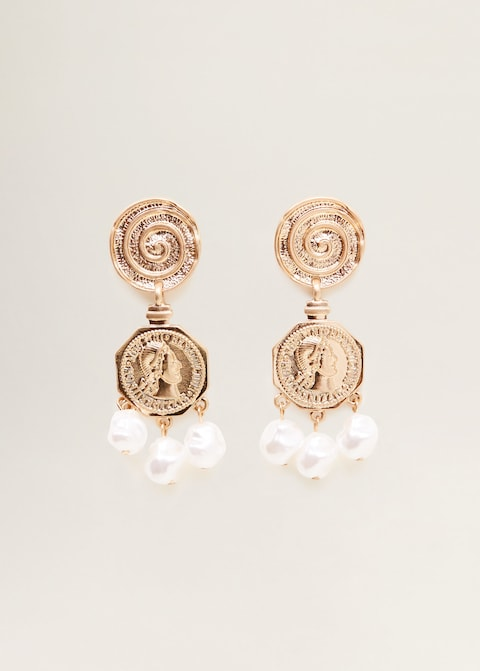 Coin pendant earrings $25.99