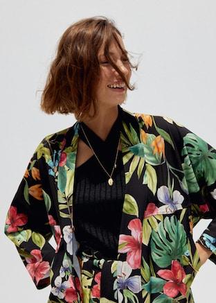 Floral print jacket $99.99
