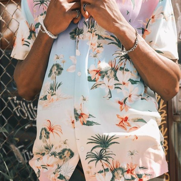 Classic Fit Tropical Print Shirt $19.90