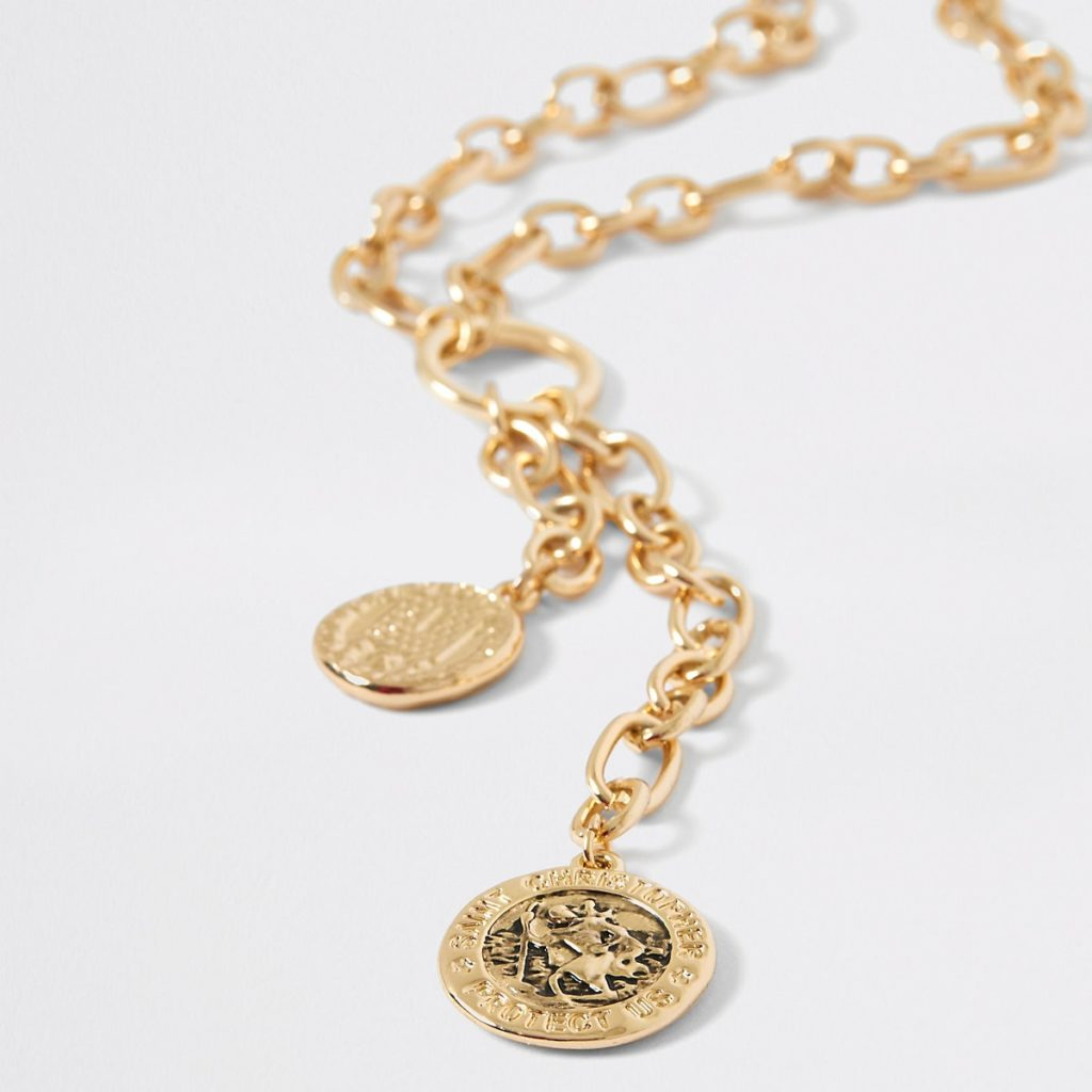 Gold color chain coin necklace $20.00