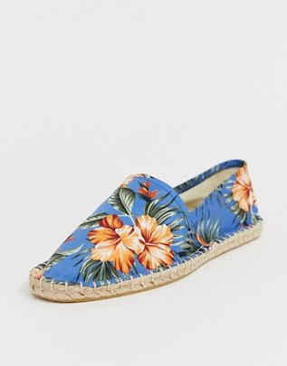 espadrilles in floral printed canvas $19.00