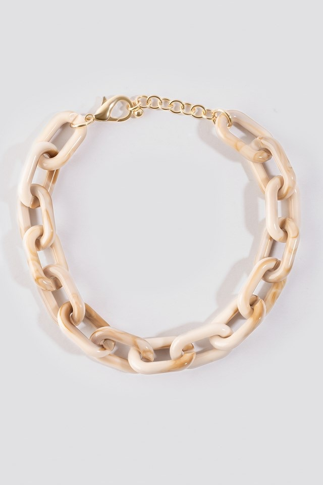 Nude Resin Chain Necklace Nude$18.95